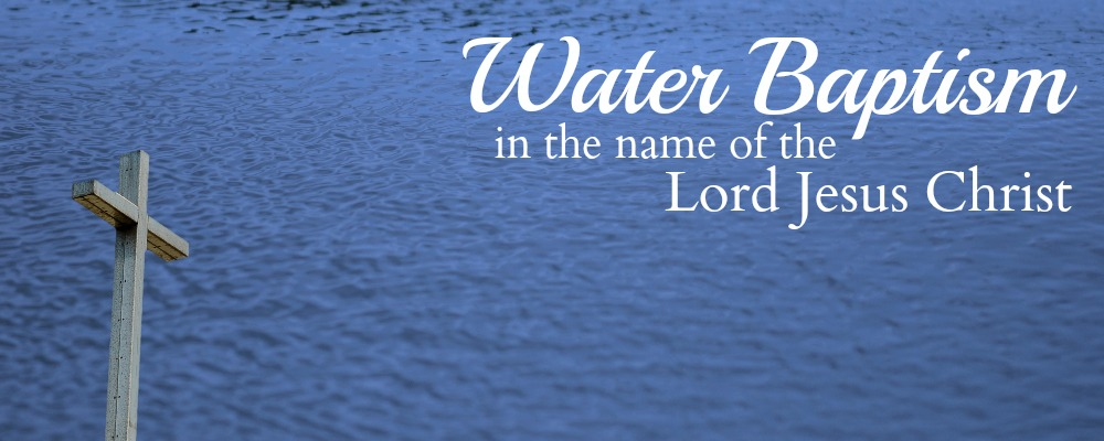 The Rite of Water Baptism